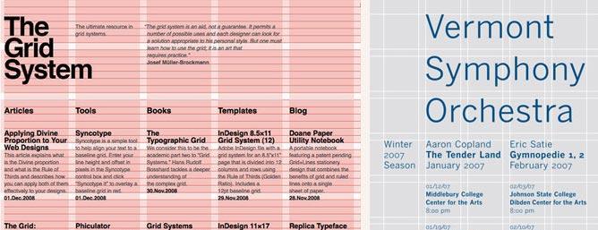 Sistema de grilla para diseño gráfico