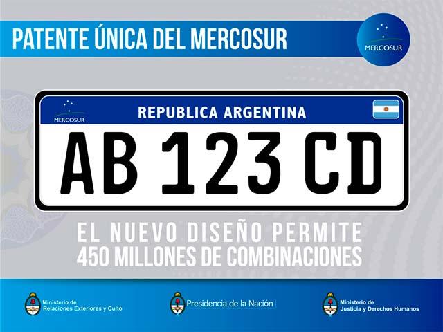 Nueva patente automotor Argentina